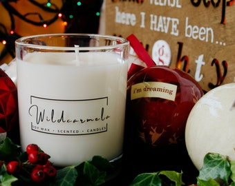 Winter/Christmas Scented Soy Candles - 100% Vegan