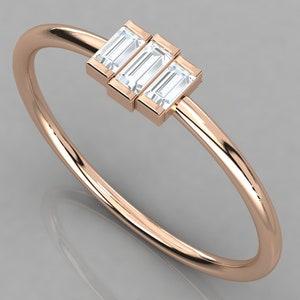 Diamond Evil Eye Stacking Ring  14k Gold Diamond Evil Eye Ring  Protection Ring  Graduation Gift  Birthday Gift  Evil Eye Gift Ideas