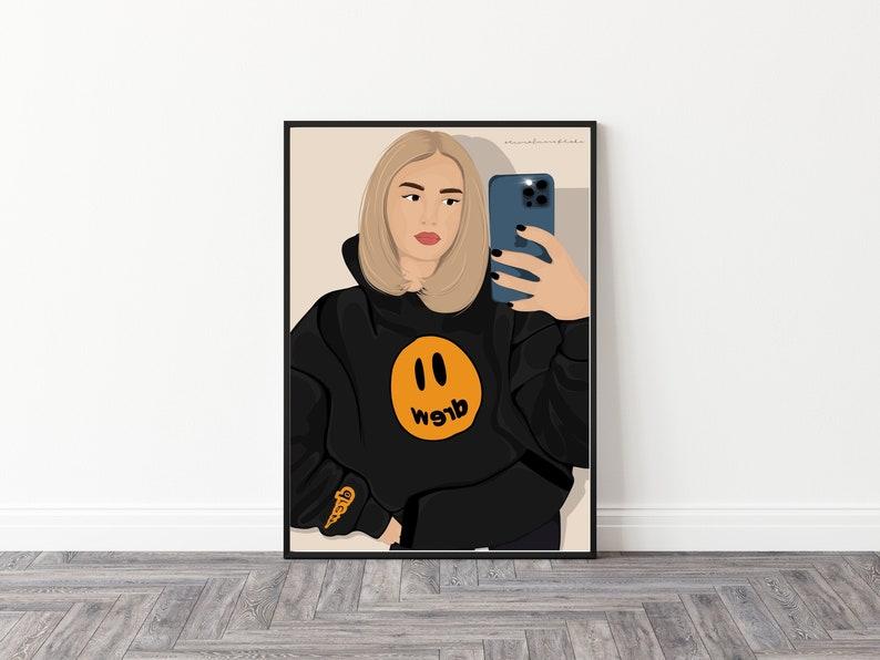 Custom digital portrait digital personalised detailed image 0