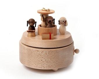 Box Puppies   Handmade Wooden Music Box