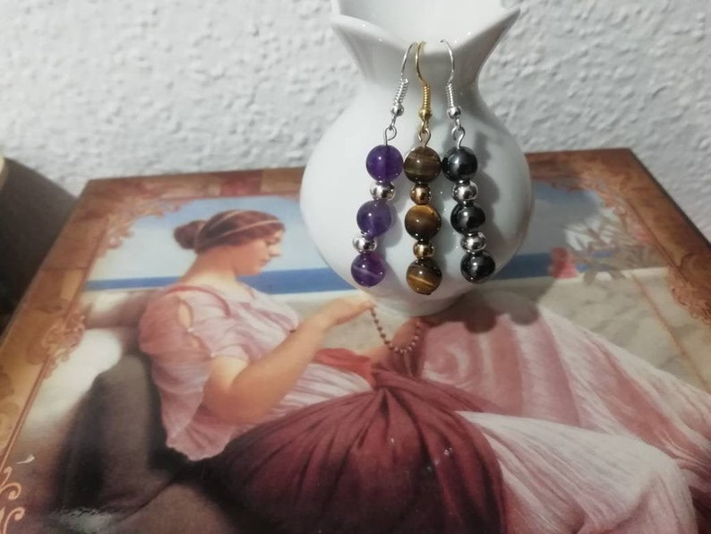 Earrings for women 3 kinds of balls round everyday jewelry