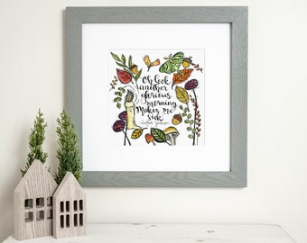 Hocus Pocus - (Matted Watercolor Print - Available Sizes: 8x8 Print in 12x12 Signed Mat, or 5x5 Print in 8x8 Signed Mat)