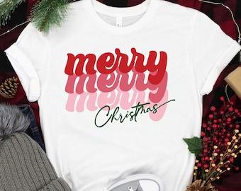 Merry Merry Merry Christmas Shirt, Christmas  Shirt, Christmas Family Shirt, Christ Shirt, Christian Shirt, Christmas Gift