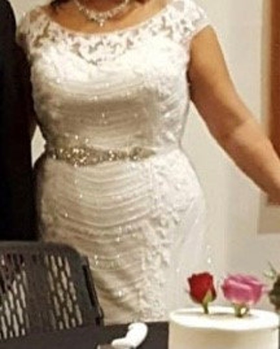 Gorgeous White Beaded Dress