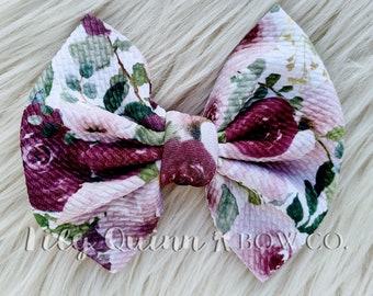 Baby Headwrap Watercolor Alligator Clip Flowers Nylon Headband Piggies Stretchy Headwrap Spring Flower Bow Newborn Headband