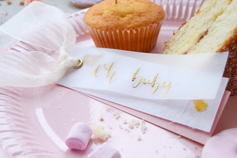 Baby shower Place Cards Personalised Gift Tags Christmas image 0