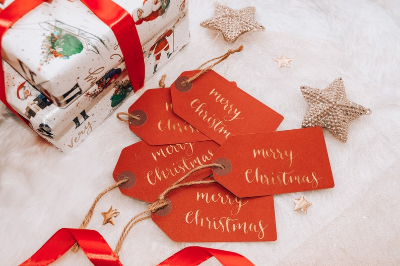 Personalised Gift Tags Christmas Gift Tags Handwritten Gift image 0