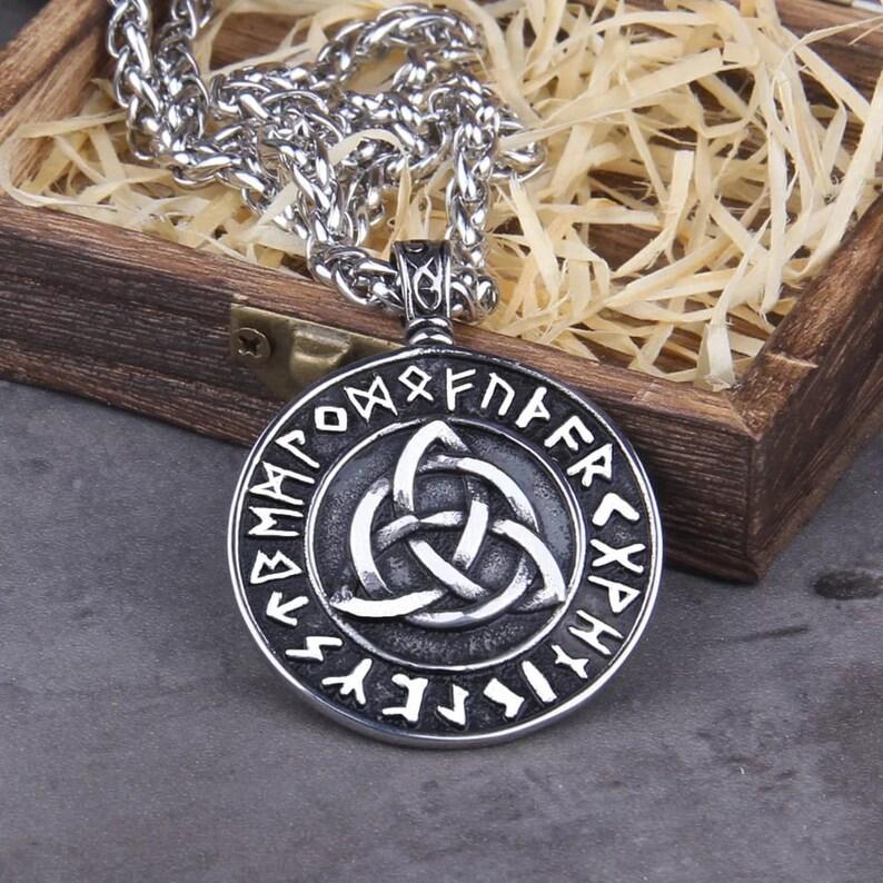 Women Men Viking Viking Protection -Viking Wedding Runes Pagan Gift Norse Viking Necklace Vegvisir Rune Necklace Nordic Viking Jewelry