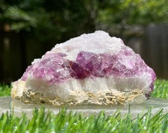 8 x 4.5 x 5.4 cm Druzy Quartz Crystal Specimen