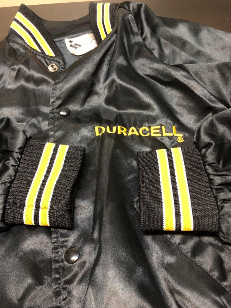 Vintage Duracell Satin Sexton Jacket Medium Men Snap Button  Geek Nerd