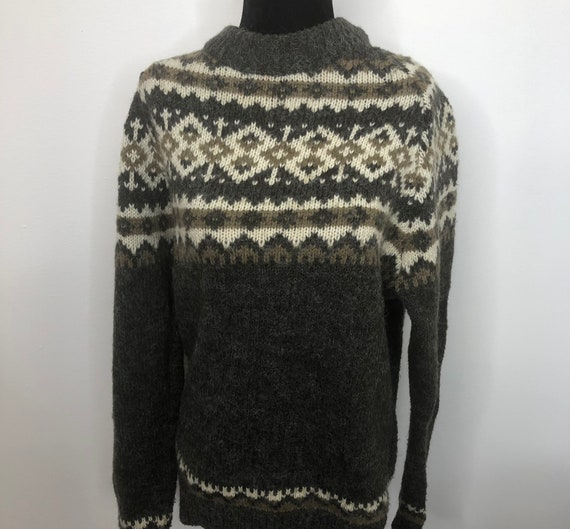 Vintage Nordic XL Woman's Fair Isle Pullover Sweat