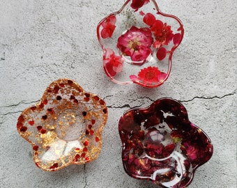 Resin trinket dish | Ring dish | Candle Holder | Jewellery Tray | Ring Holder  | Gift for Mum | Key Bowl |  New Home Present