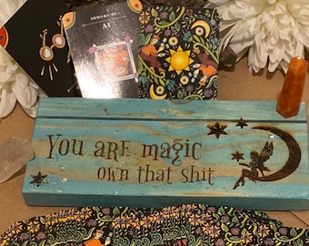 Fairy Magic Tarot Holder,  Tarot card holder, Tarot Deck Box, Oracle card holder,  Card of the Day