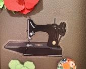Black Featherweight Vintage Sewing Machine Car Decal Sticker Laptop Sticker Sticker Collector Vinyl Sticker Water bottle