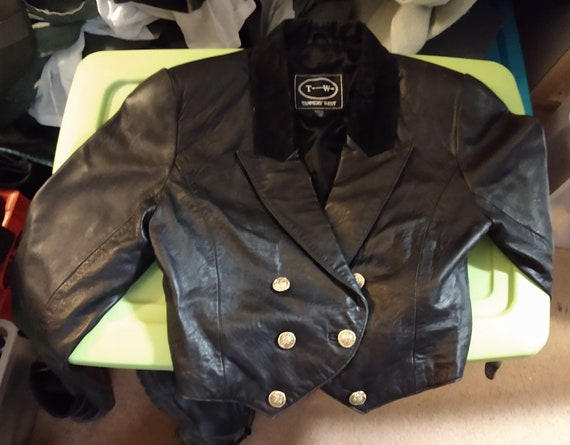 Tannery West Vintage Cropped Blazer Leather Jacket