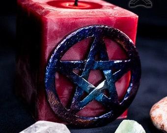 Iron Pentacle Talisman - Hand Forged Altar Talisman (2 sizes)