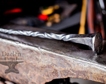 Devil's Toothpick - Iron Staff Forged from a Reclaimed Railway Spike