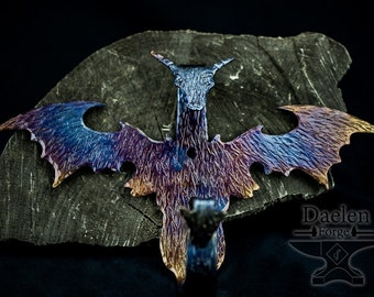 Forged and Fire Painted Dragon Wall Hooks