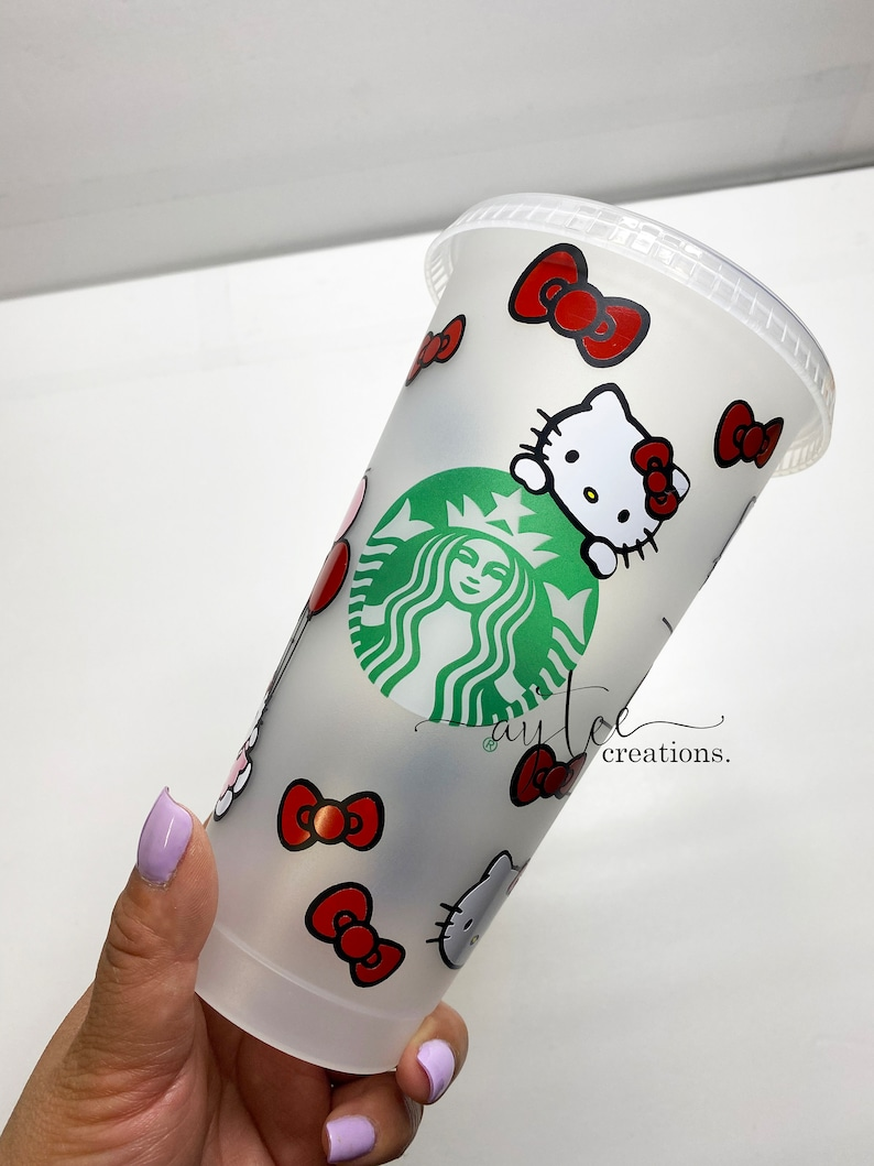 Personalized Cup Starbucks Tumbler Hello Kitty Starbucks Cold Cup Designer Tumbler Designer Cup
