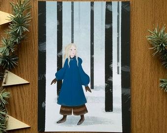 The Girl in the Woods/Ciri - A5 Glicée Fine Art Print