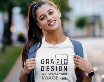 YOUTH TSHIRT MOCKUP ||  Tshirt Youth Mockup || Youth Mockup || Youth Tee Mockup ( 5 T-shirt Mockups on Beautiful Model ) GraPicDesign