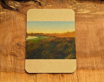 Nature inspired note card (4.25 x 5.5) with hand stamped envelope.