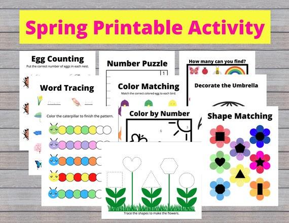 Spring Preschool Activity Spring Toddler Activity Spring