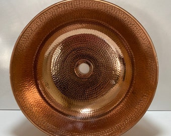 "Big Size Custom Order 18.5"" diameter - 8.5"" depth /Handmade Pure Copper Sink Bowl/Bathroom Vessel Sinks /Copper Sink Bathroom/Commercial Use"