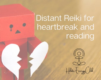 Distant Reiki 15 minutes for Heartbreak and 1 oracle card reading