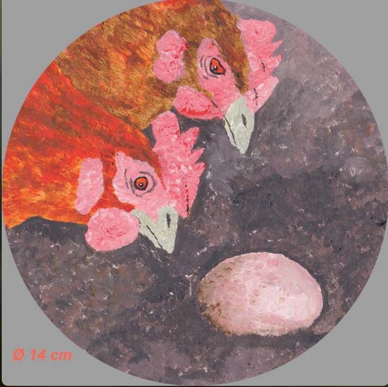 JPG  PNG Chicken Motif  A4A6  5x7  14 x 14 cm square  14 cm round  Easter card Digital Download Print Template Oh Look