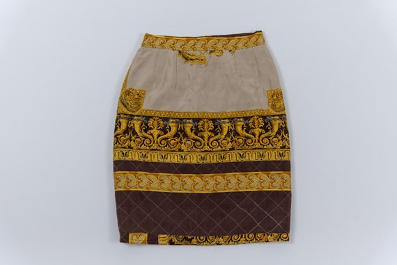 VERSACE Patterned quilted skirt