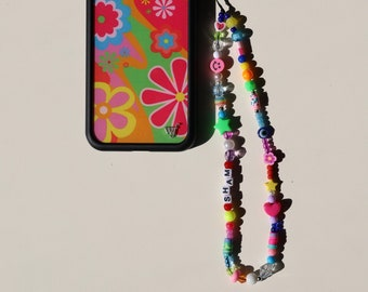 Phone Chain - Cute Phone Charm - y2k Accessories - Customized Phone Charm - Phone Strap Trend - Personalized Beaded Phone Strap