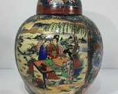 Handmade Satsuma Porcelain Vase