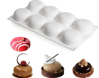 Round Mold Pudding Jelly Molds Chocolate Mold Ice Lattice Candy Mold Cake Pop Mold Clay Mold