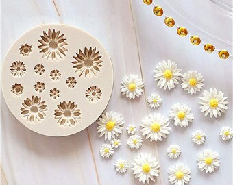 Camomile Mold Summer Mold Mold for Chocolate DAISY MOLD Floral Mold Bath Bomb Mold Sunflower Mold Spring Mold Flower Mold Soap Mold