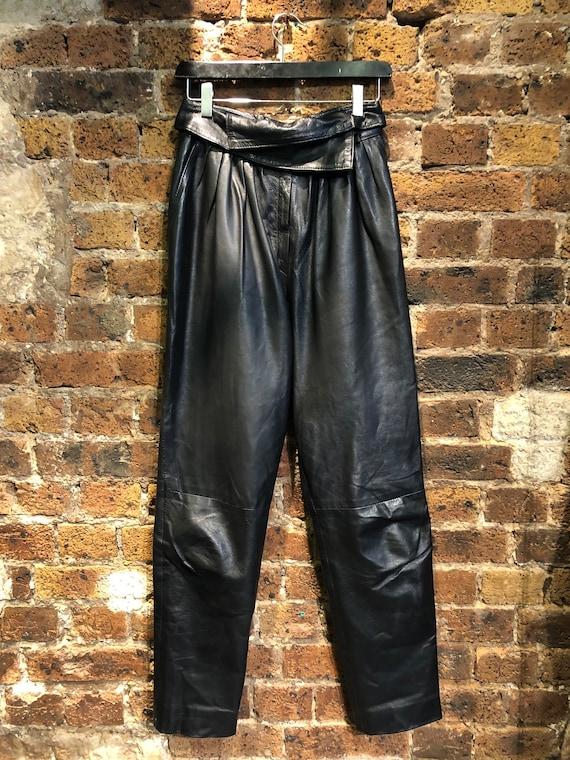 Black Leather Pants