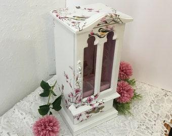 Refinished Medium Floral Jewelry Box