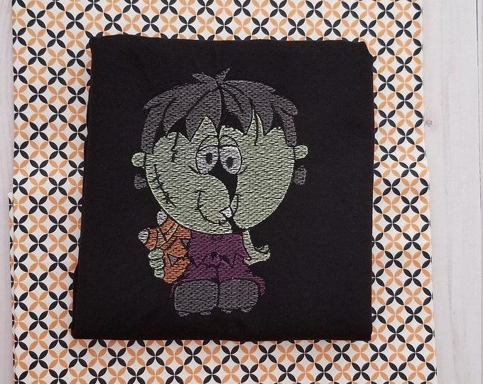 Frankenstein Boy  - Frankenstein Monster - Monster Shirt - Boys Tshirt - Halloween Tshirt - Embroidered - Halloween - Personalize