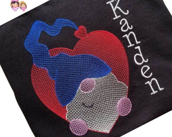 Gnome with Heart - Custom Embroidered Valentine's Day T-Shirt in Youth Sizes -