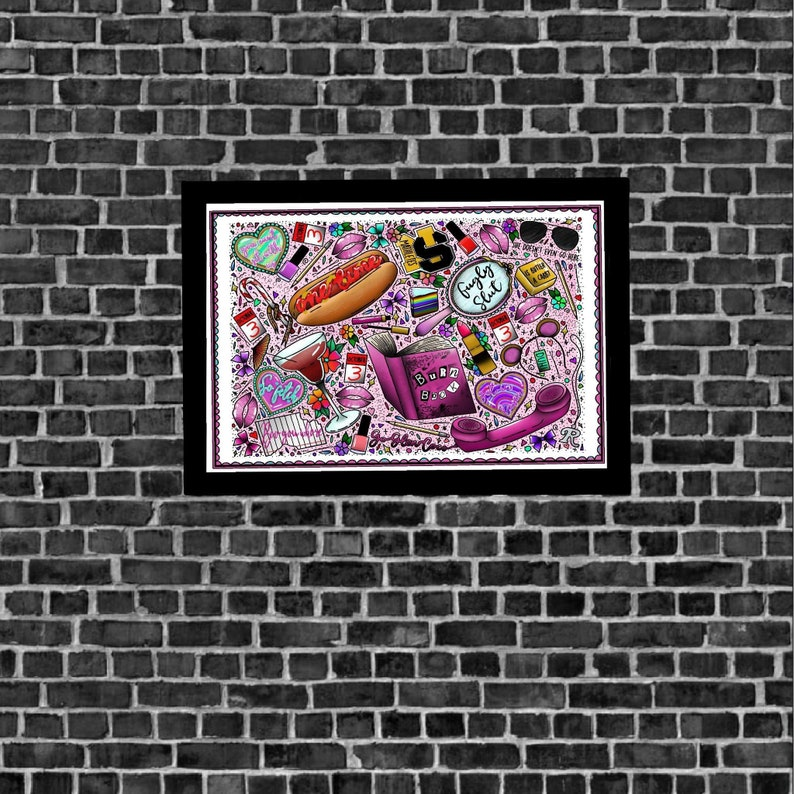 Mean Girls Movie Traditional Tattoo Flash Art Poster Print