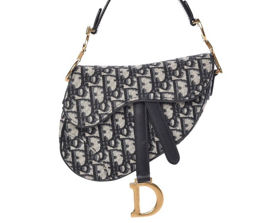 Christian Dior Jacquard Saddle Bag