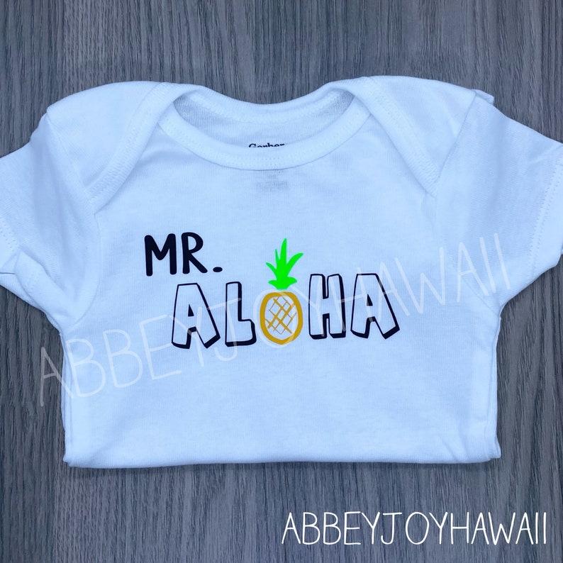 ONESIES\u00ae brand Mr Personality bodysuit baby gift Bodysuit or T-shirt Aloha Hawaii Mr