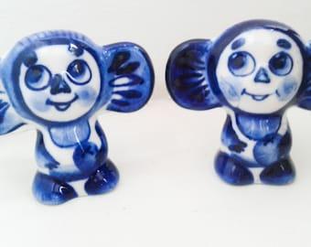 Cheburashka Gzhel Collectible toy