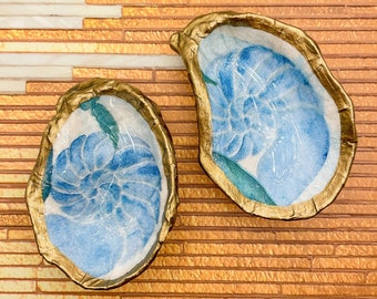 Leopard Print Decoupage Oyster Ring  Jewelry Dish