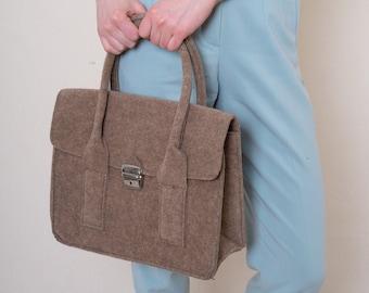 retro vintage felted bag