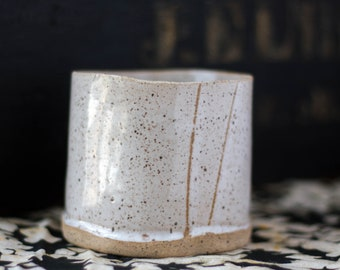 Stemless Wine Glasses 6.5oz Coffee or Espresso Mug Handmade Ceramic Tumbler Set of 2 Coffee Lover Gift Japanese Yunomi