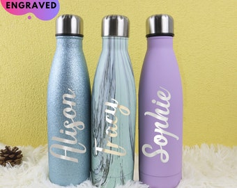 Personalized Water Bottle Custom Water Bottle Bridesmaid Gifts Bridesmaid Water Bottle Bachelorette Party Favors Bridesmaid Proposal