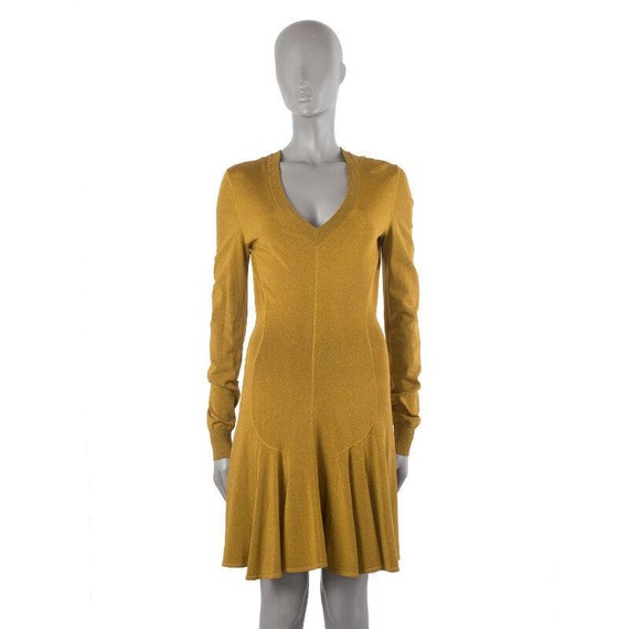 41259 auth ALAIA curry viscose VINTAGE Long Sleeve