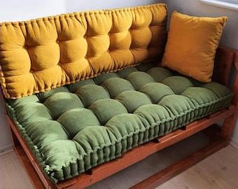 Elegant sofa cushion, baroque sofa cushion, french mattress cushion, bench cushion, baroque home decor, quilted mattress, floor pillow