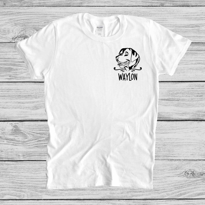 Custom Dog Name Shirt Gift For Dog Parents Dog Lovers Tee Shirt Gift For Dog Owner Personalized Dog T-Shirt Custom Gift For Dog Lovers